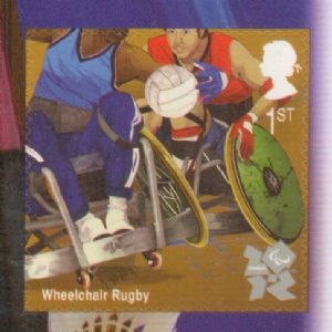 SG3205 2011 Wheelchair Rugby Self Adhesive Stamp